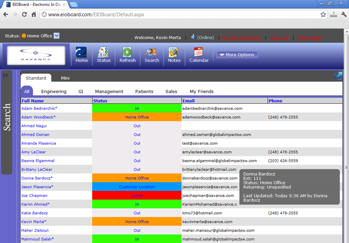 Browser Interface Full Screenshot