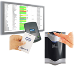 Employee Badg Card Reader and Fingerprint Scanner Combined with a Large Screen Display