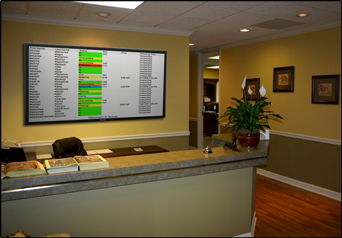 Receptionist Large Screen Display