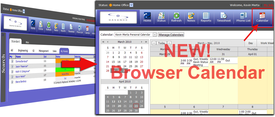 New Browser Calendar
