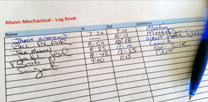 Old Style Paper Log Book