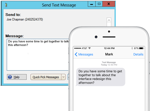 SMS text messaging