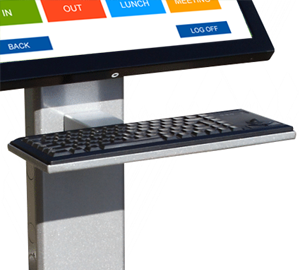 Keyboard Tray Add-On for Kiosk Floor Stand