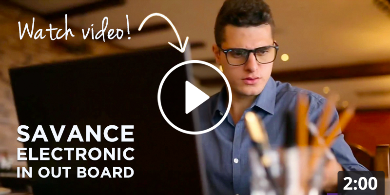 Savance EIOBoard Electronic In Out Board Overview Video