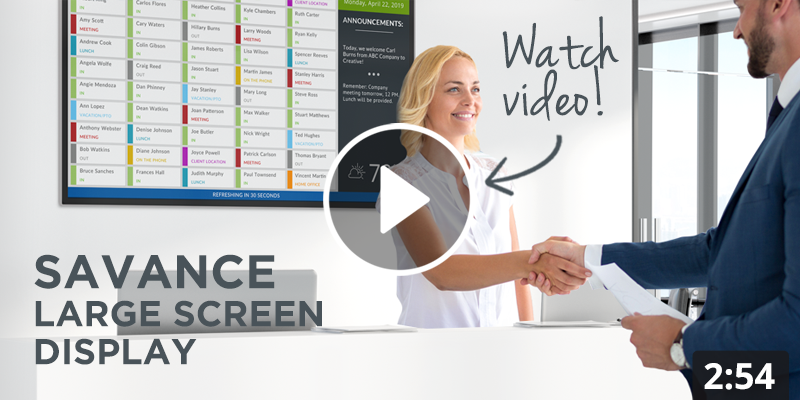 Savance Large Screen Display Overview Video