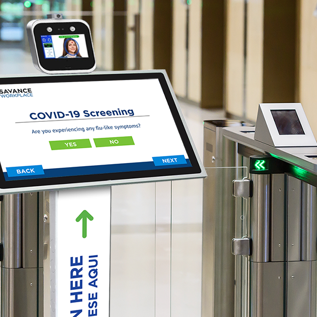 Control access through doors and turnstiles based on covid screening results